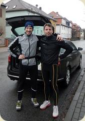 Vor dem Lauf: Lars und Andreas