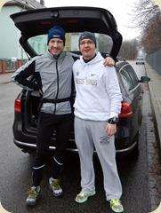 Vor dem Lauf: Lars und Jens